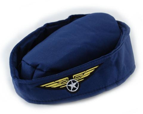 Kopfbedeckung für Stewardess - Schiffchen - Damen - Fasching