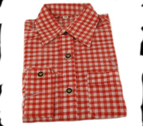 Trachtenhemd Kinder kariert rot Größe 140