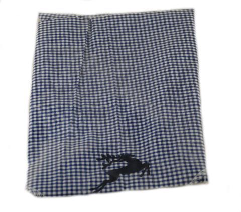Trachtentuch - blau kariert - Trachten Tuch
