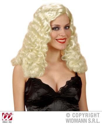 Exklusive Engelsperücke blond gelockt  - Engel Perücke - Faschingsperücke