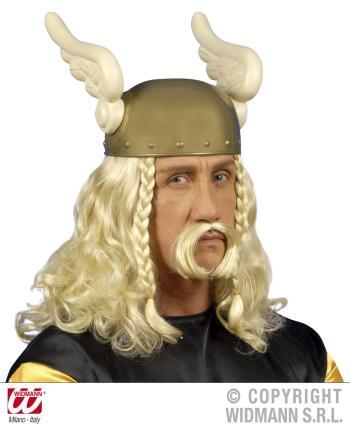 Perücke Gallier blond Wikinger Fasching Karneval