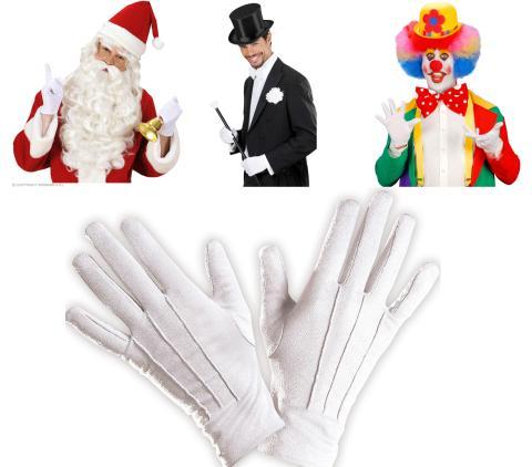 Weiße  Handschuhe - Paar Handschuhe in weiß - Weihnachtsmann Zauberer