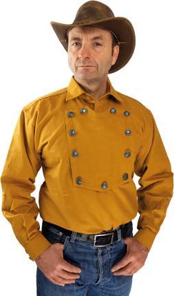 Camelbraunes Country Westernhemd  John Wayne von Running Bear M - 4 XL 3XL - 58/60