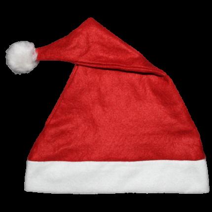 12 x  Weihnachtsmütze - Weihnachtsmannmütze - Nikolausmütze rot mit Bommel