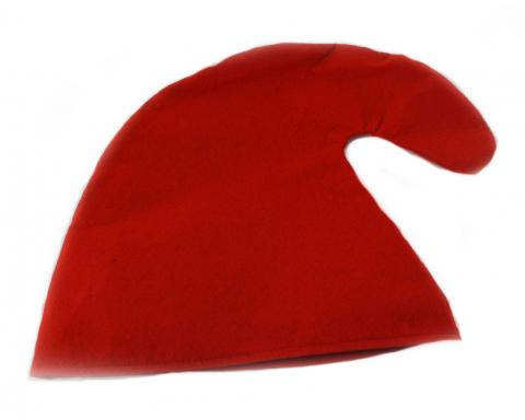 Zwergenmütze in rot für Erwachsene - Zwergen Hut Mütze- rote Gnommütze - Zwerg