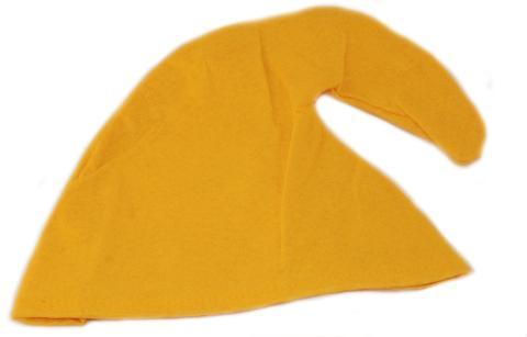 Zwergenmütze  für Kinder  - Zwergen Mütze Kind - Gnommütze Kinder Mützen gelb