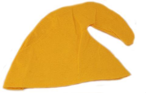 Zwergenmütze in gelb für Erwachsene - Zwergen Hut Mütze