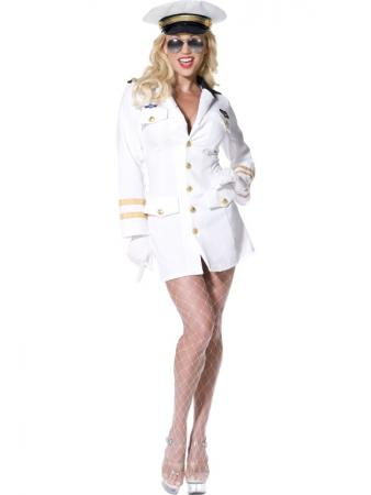Kost�m sexy Top Gun Offizierin Gr L