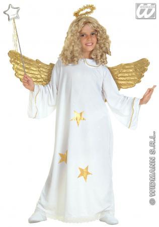 Star Engel Kost�m mit Heiligenschein M 140 cm