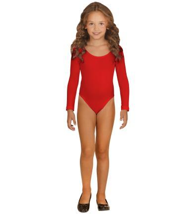 128 cm Kinder Body in rot mit Ärmeln 116 cm