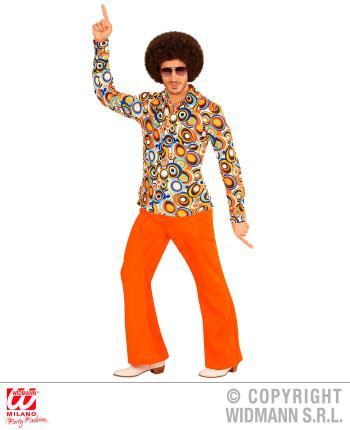 70er Jahre Herren SCHLAGHOSE HEMD Kostüm Disco Hippie Schlagermove 48-58 bubbl