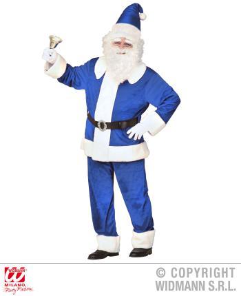 blauer luxus weihnachtsmann aus samt kost m gr l xl. Black Bedroom Furniture Sets. Home Design Ideas