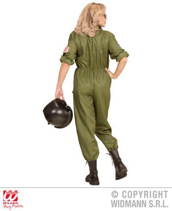 kampfjet pilotin damen kost m jet verkleidung gr l. Black Bedroom Furniture Sets. Home Design Ideas