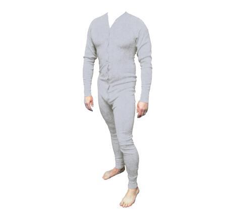 d189dfee5e Long John Western Unterwäsche grau Einteiler Baumwolle Gr. 3XL Cowboy  Unterhose