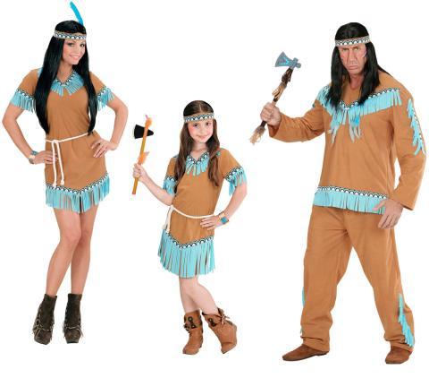 Indianerin Kostum Mit Kleid Gurtel Stirnband Kinderkostum