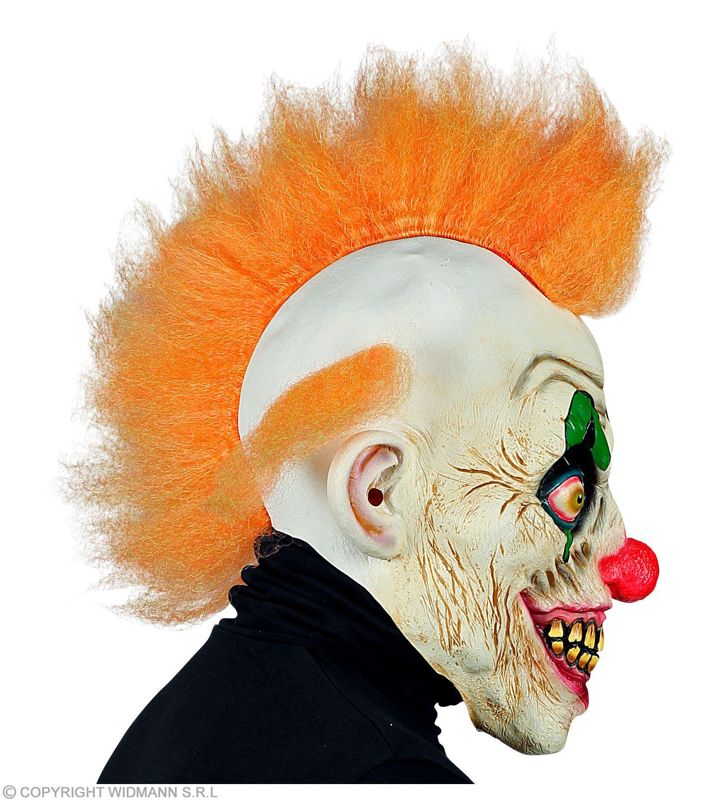 Maske Horror Clown mit roten Haaren Clownsmaske Vollmaske Clownmaske Fasching