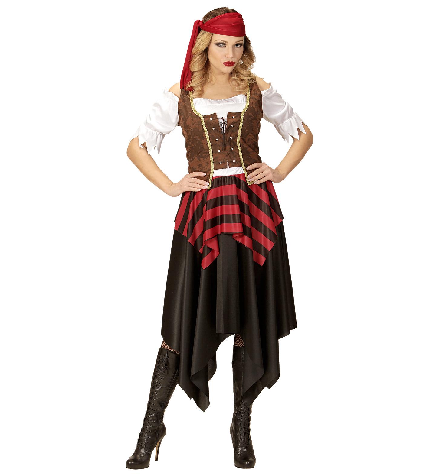 kost m piratin piratenbraut gr l piratenkost m fasching. Black Bedroom Furniture Sets. Home Design Ideas