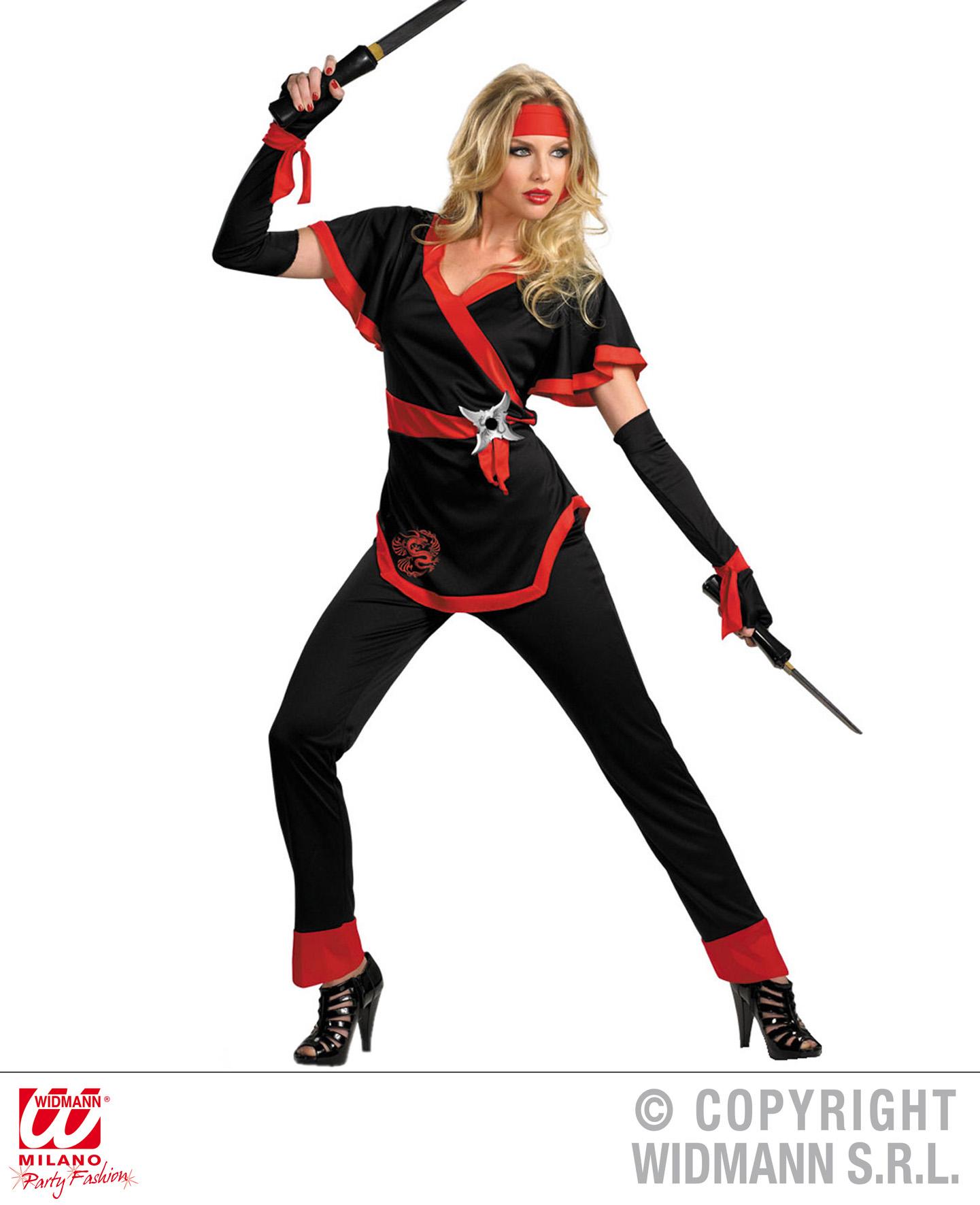 Ninja Kostüm Frau Sumurai Ninjakämperin Schwert Kämpferin