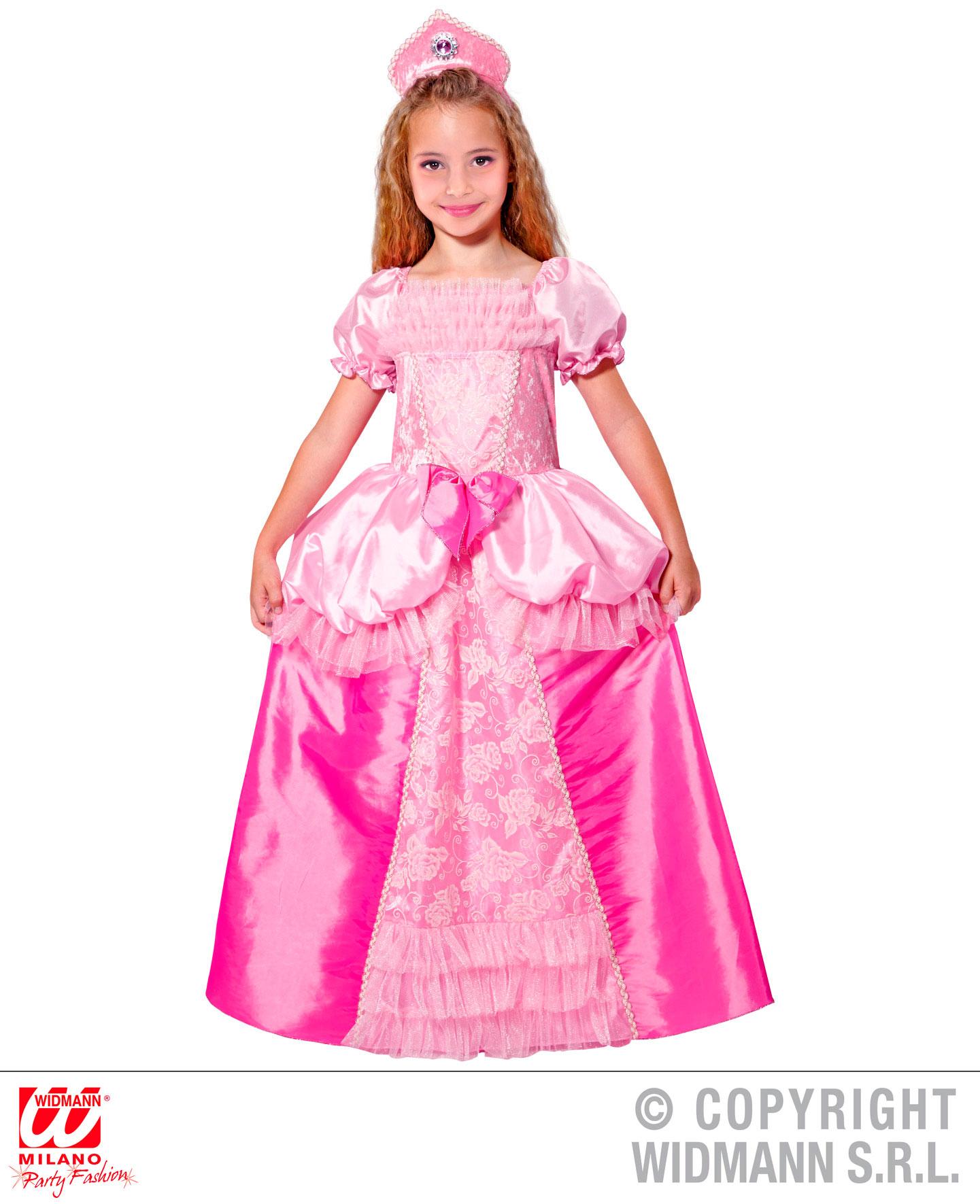 prinzessin kleid mit kopfschmuck rosa pink gr 128 cm 5. Black Bedroom Furniture Sets. Home Design Ideas