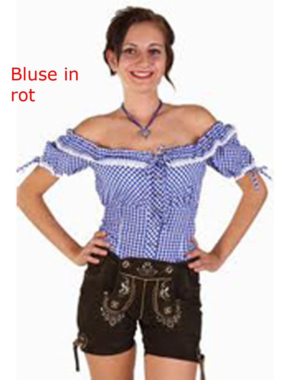 karierte bluse f r tracht trachten bluse trachtenbluse in blau kost m per cken. Black Bedroom Furniture Sets. Home Design Ideas