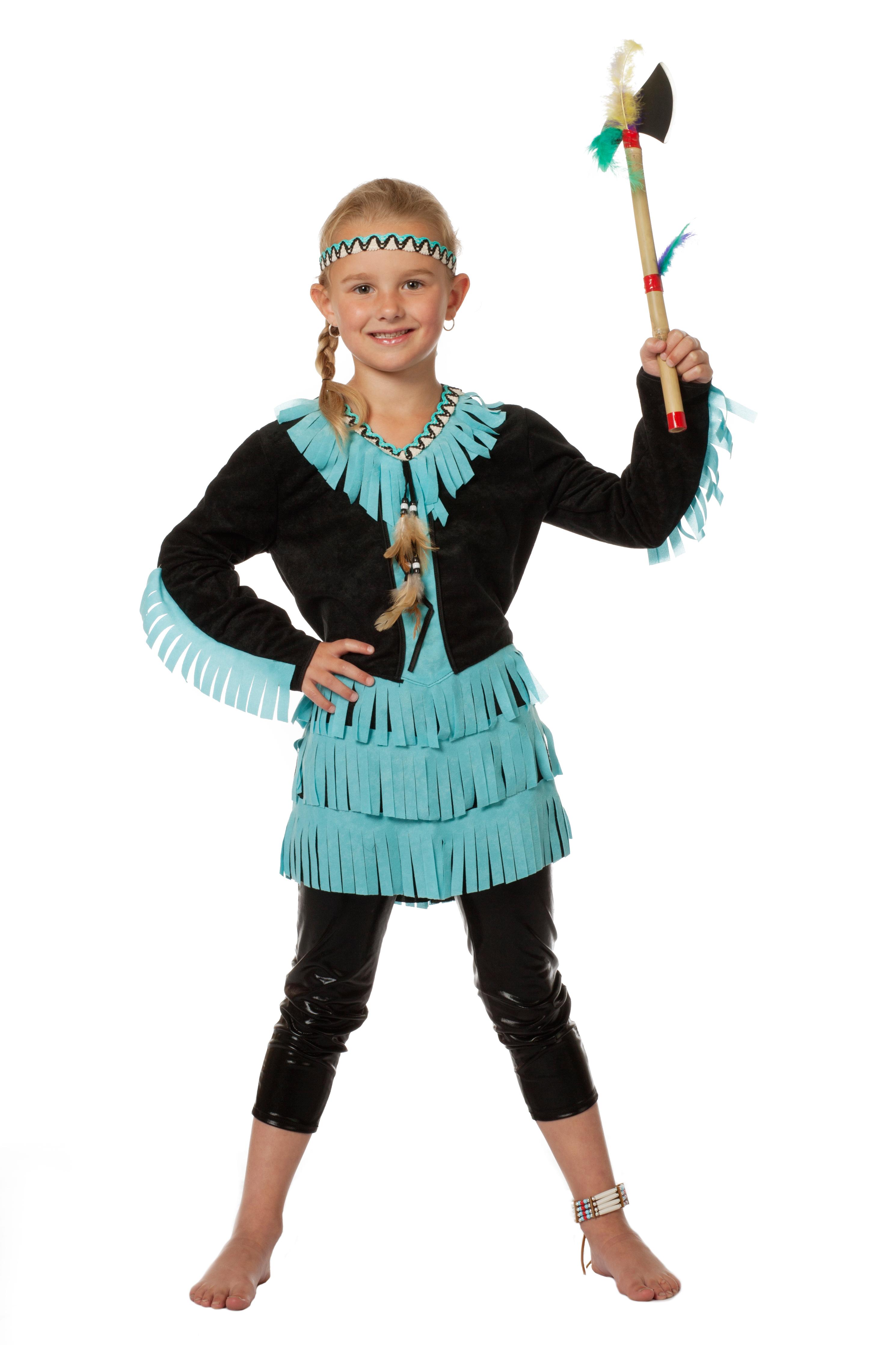 Kinderkostum Indianerin Madchen Kostum Karneval Schwarz Blau Fasching
