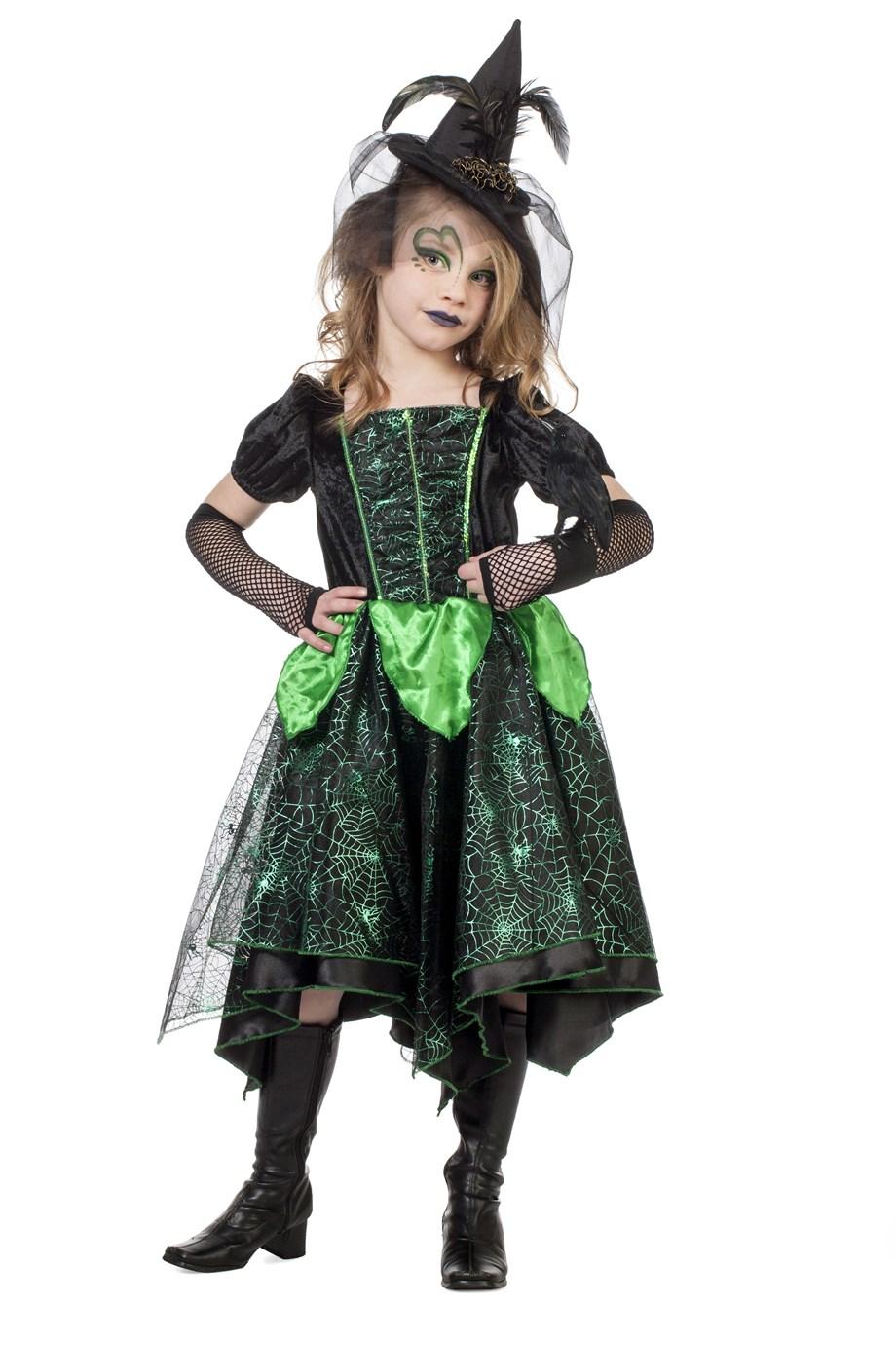 Grune Hexe Hexenkostum Madchen Halloween 104 Cm Glamour Wilbers