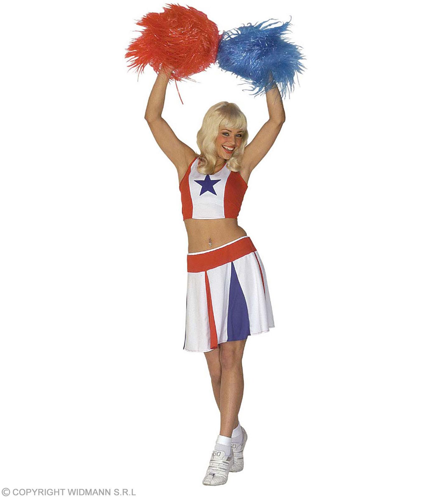 Cheerleader Kostüm Damen Faschingskostüm Football Verkleidung