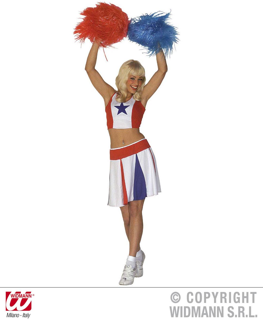 Damen Kostum Cheerleader Gr M Sportkostum Team M Scherzwelt