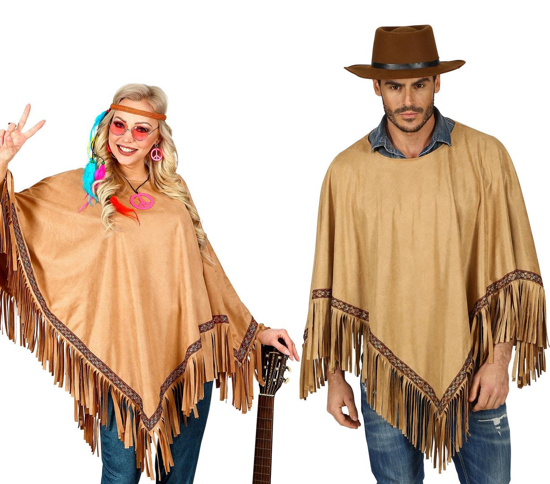 Poncho Stars /& Stripes Western Umhang Cowboy