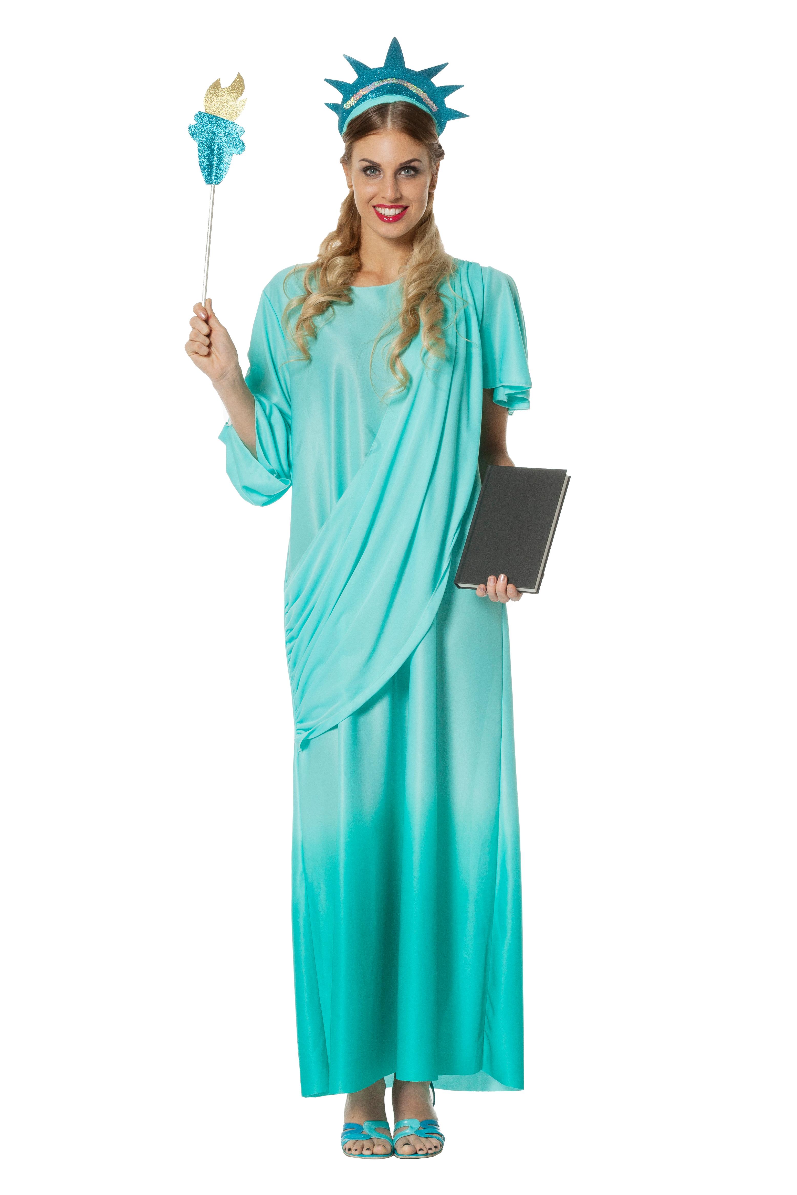 Wilbers Damen Kostum Freiheitsstatue Gr 38 Liberty Usa Scherzwelt