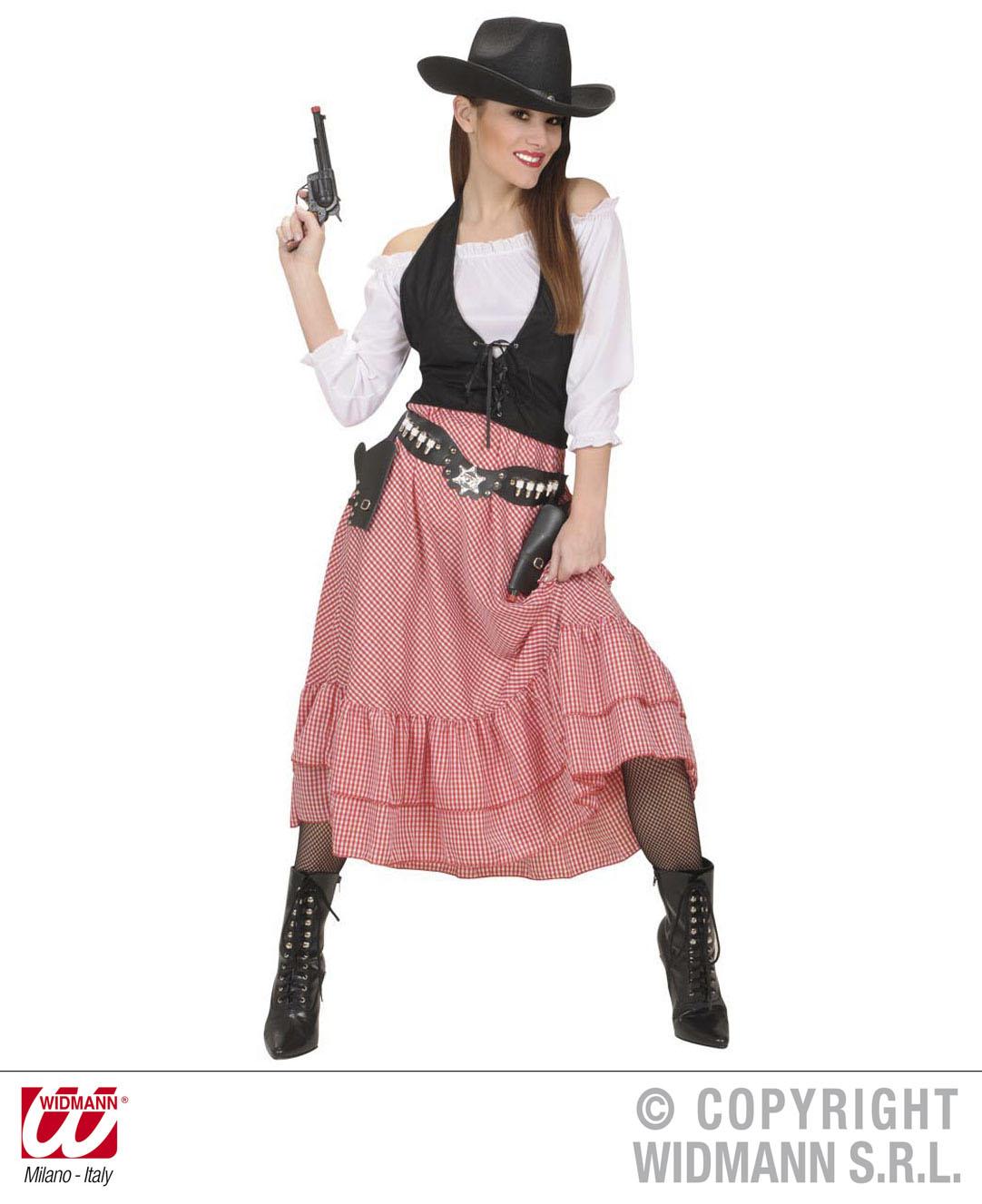 Damen Kostum Cowgirl Western Lady Gr M Scherzwelt