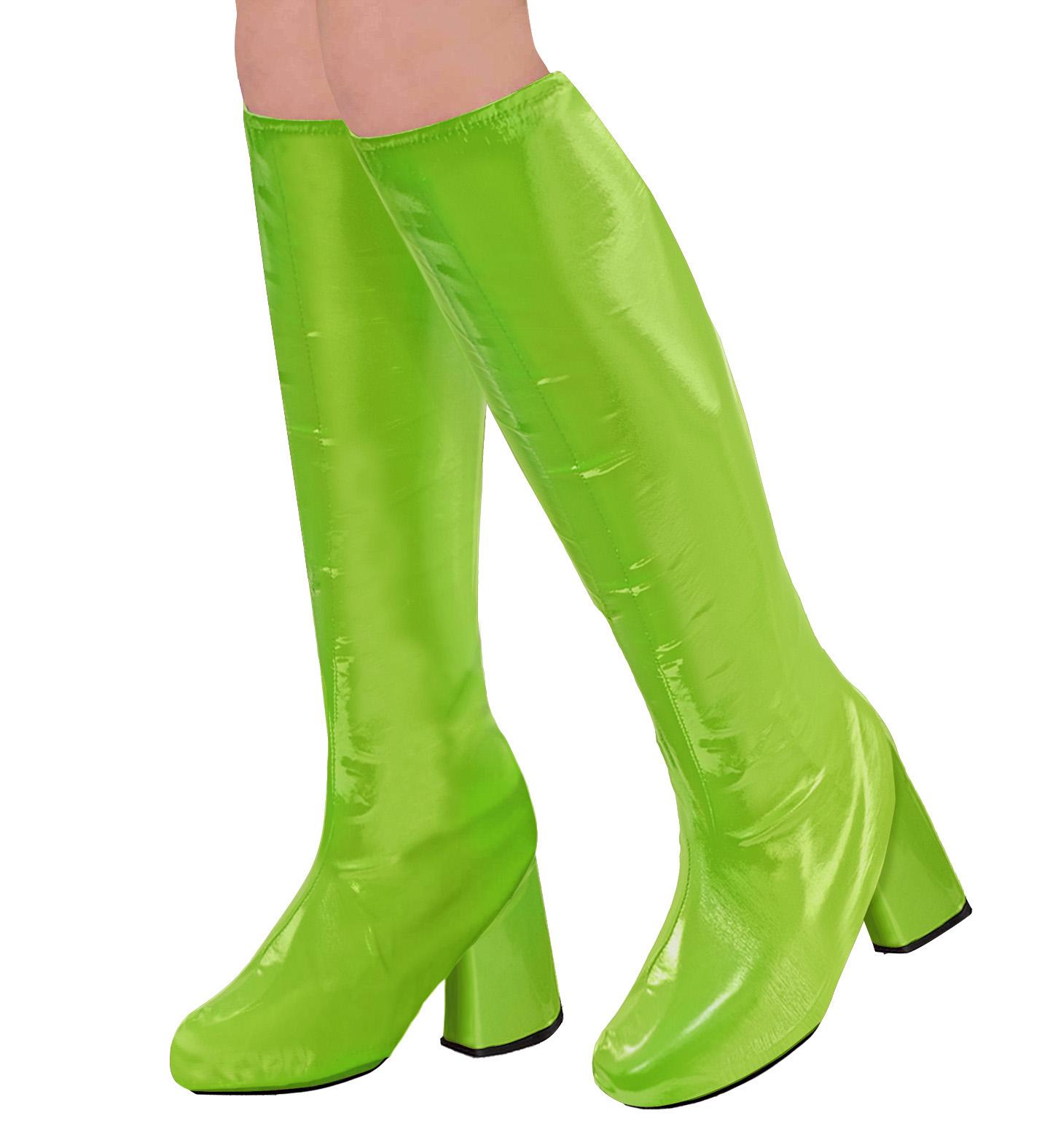 Stiefelüberzieher für Damen in grün Einheitsgröße 70er Jahre Boots