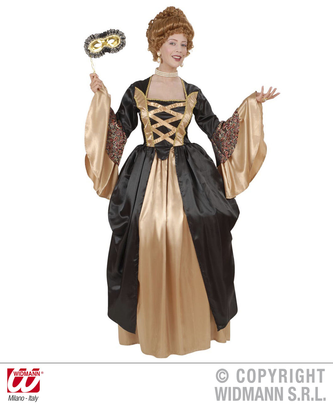 Costume CONSTANZE - Dress with Petticoat Size M Medieval ...