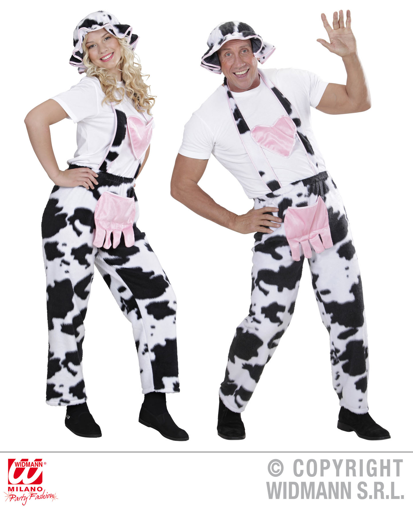 Latzhose Kuh Mit Hut Kuh Kostüm Gr L Scherzwelt