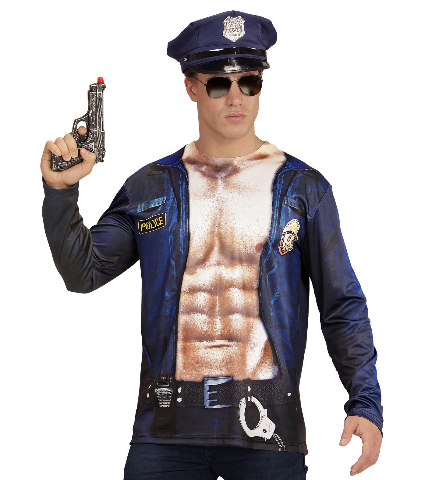 Fotorealistisches Shirt Polizist Gr M L Polizei Kostum Mann