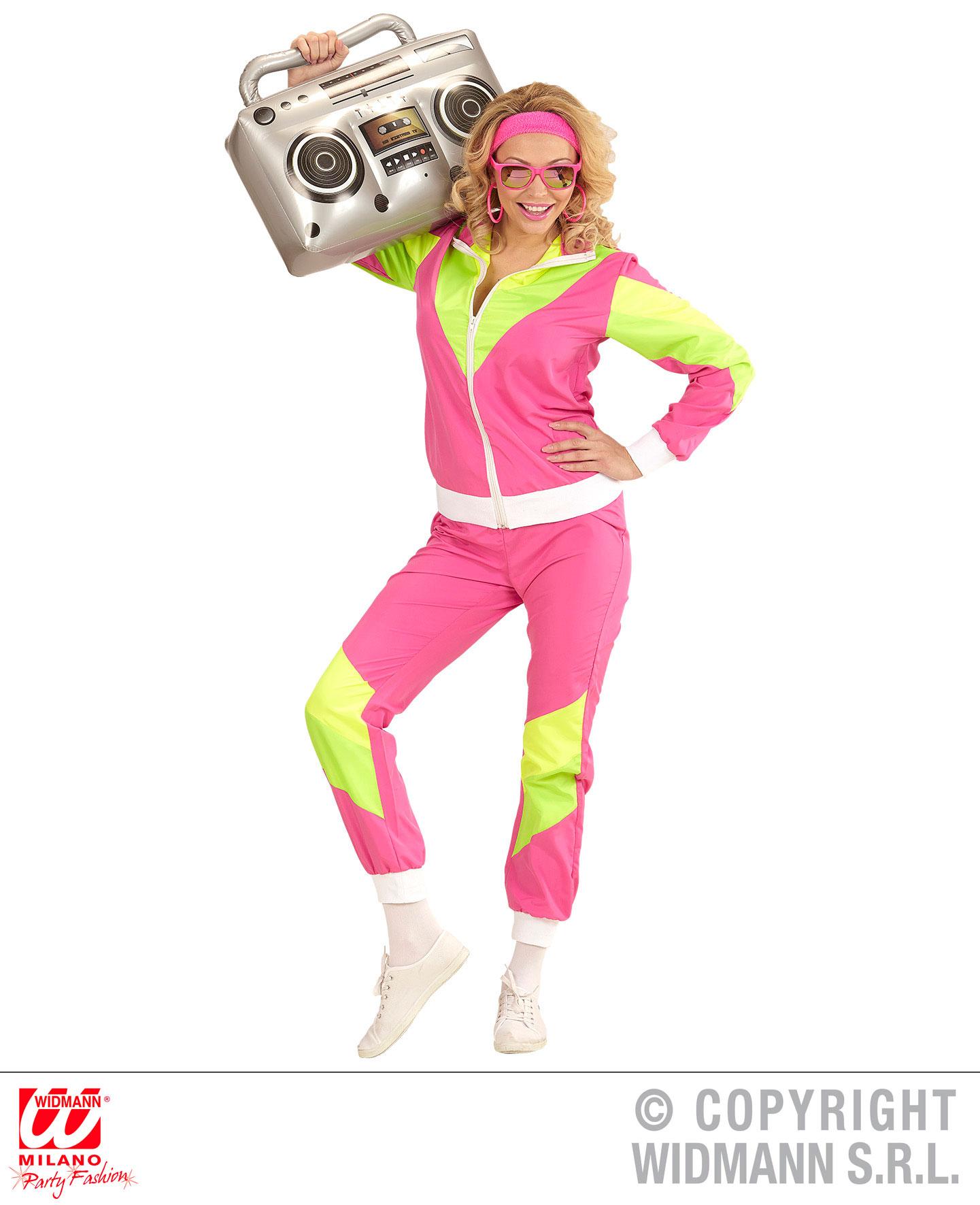 Damen Kostum 80er Jahre Trainingsanzug Gr L Scherzwelt