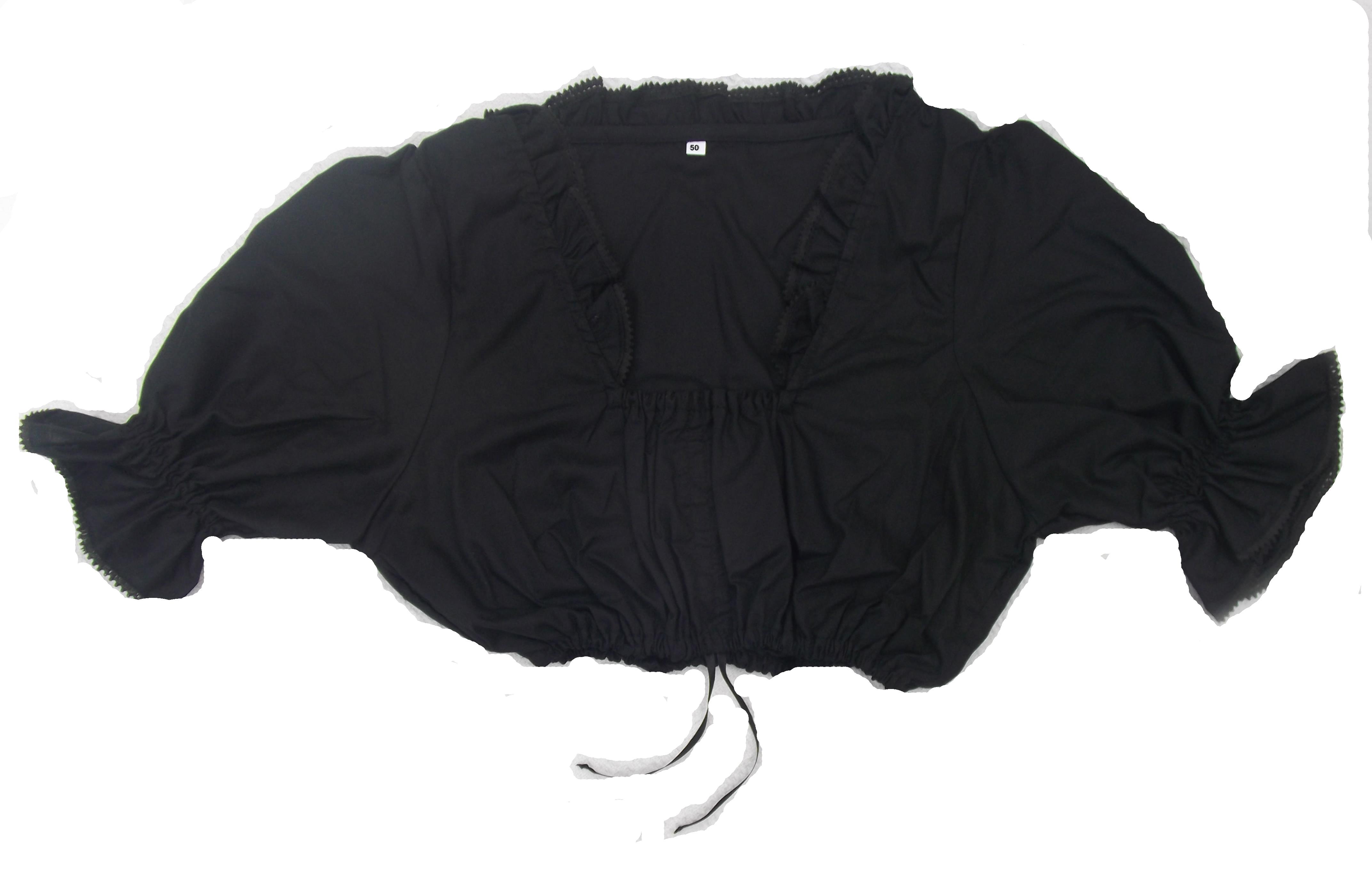 trachten dirndl bluse in schwarz gr 48 blusen scherzwelt. Black Bedroom Furniture Sets. Home Design Ideas
