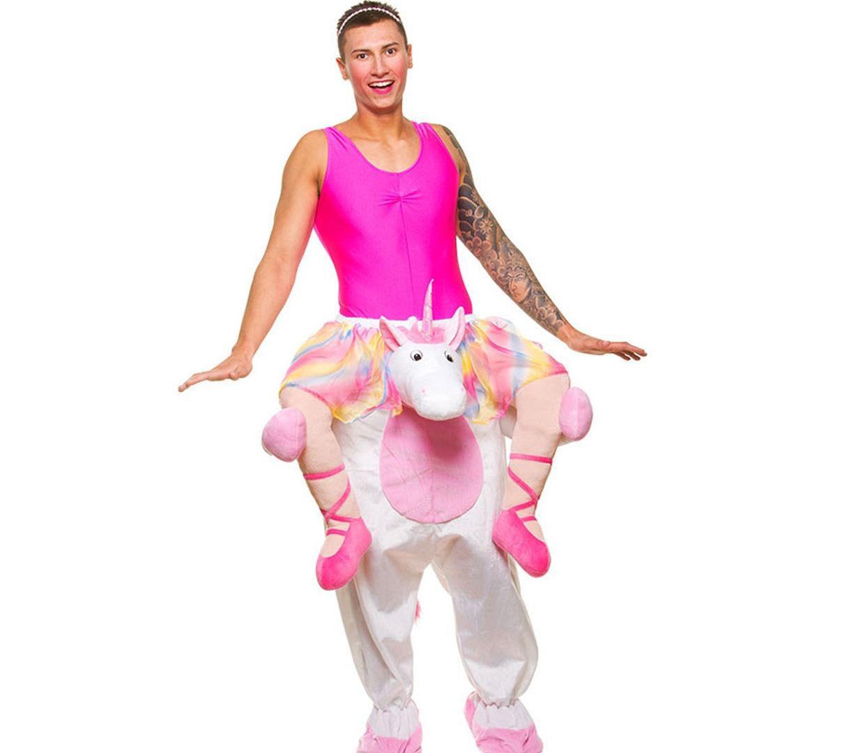 carry me unicorn einhorn verkleidung huckepack ballerina