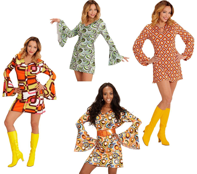 Groovy 70er Jahre Kleid S Bis Xl Schlager Hippie Siebziger Retro
